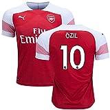 サッカーArsenal(アーセナル)2018-2019ホーム半袖ユニフォーム #10 Mesut Ozil