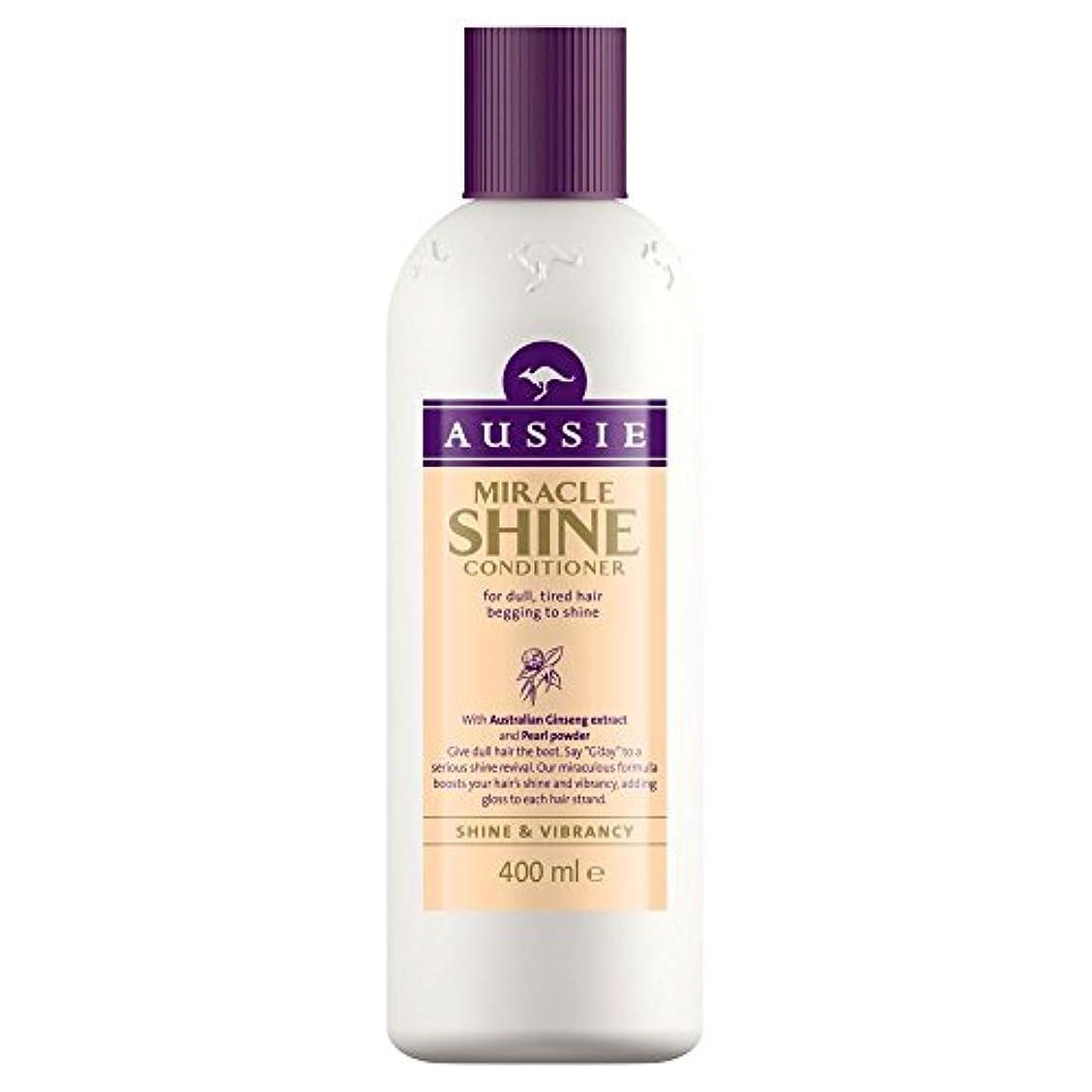 雄弁家ロゴジョージスティーブンソンAussie Miracle Shine Conditioner (400ml) オージー奇跡のシャインコンディショナー( 400ミリリットル) [並行輸入品]