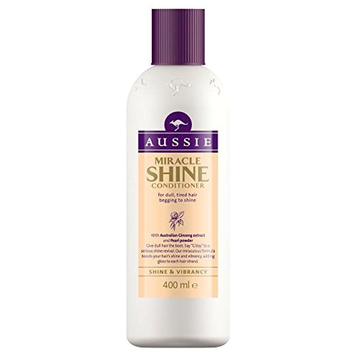 拡大する生産的乏しいAussie Miracle Shine Conditioner (400ml) オージー奇跡のシャインコンディショナー( 400ミリリットル) [並行輸入品]