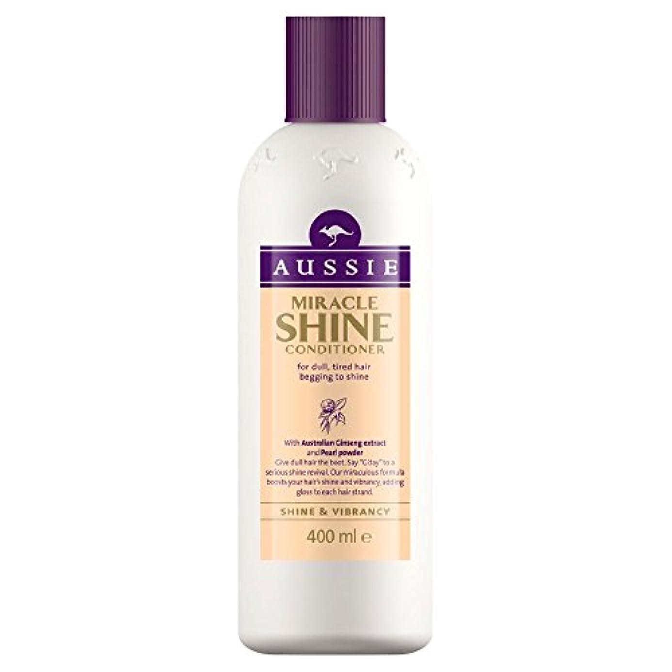 抑制する技術的なヒットAussie Miracle Shine Conditioner (400ml) オージー奇跡のシャインコンディショナー( 400ミリリットル) [並行輸入品]