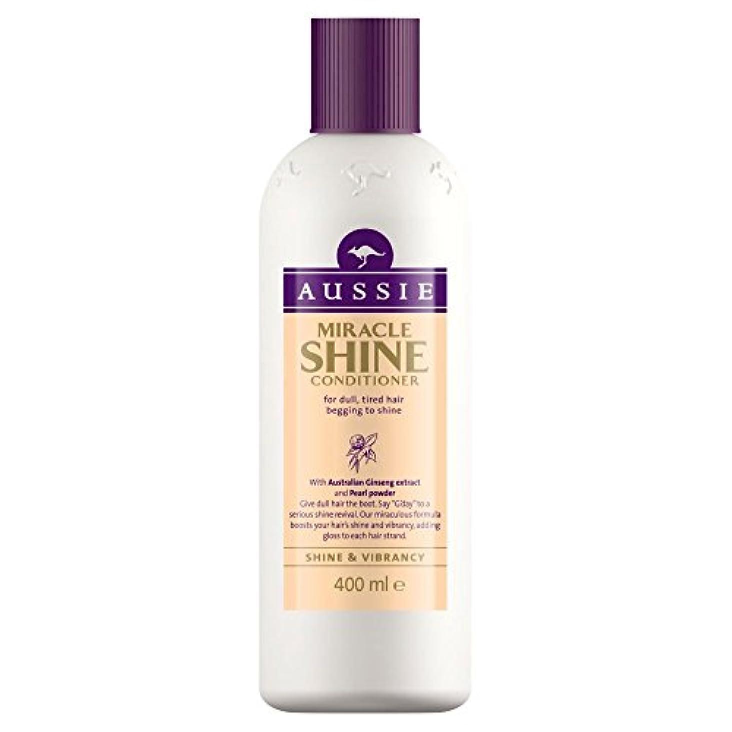 干し草ゼリーコロニアルAussie Miracle Shine Conditioner (400ml) オージー奇跡のシャインコンディショナー( 400ミリリットル) [並行輸入品]