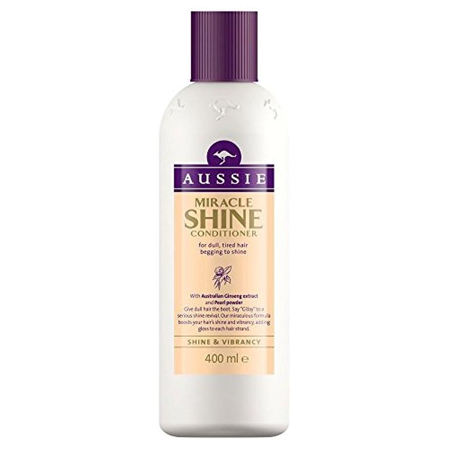 コンパイル贅沢ぴかぴかAussie Miracle Shine Conditioner (400ml) オージー奇跡のシャインコンディショナー( 400ミリリットル) [並行輸入品]