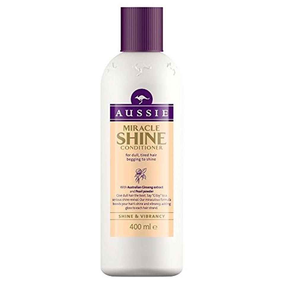 Aussie Miracle Shine Conditioner (400ml) オージー奇跡のシャインコンディショナー( 400ミリリットル) [並行輸入品]