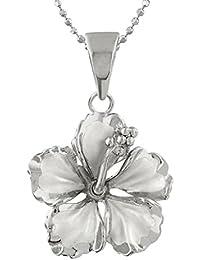 [ハワイアン シルバー ジュエリー] Hawaiian Silver Jewelry ハイビスカス ネックレス シルバー925 [インポート]