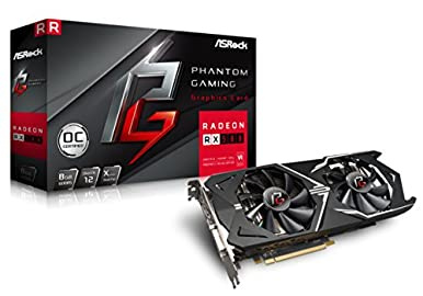 ASRock ビデオカード Radeon RX580搭載 3モード切替モデル PGX Radeon RX580 8G OC