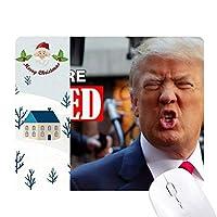 アメリカの大統領は、面白いトランプの画像 サンタクロース家屋ゴムのマウスパッド