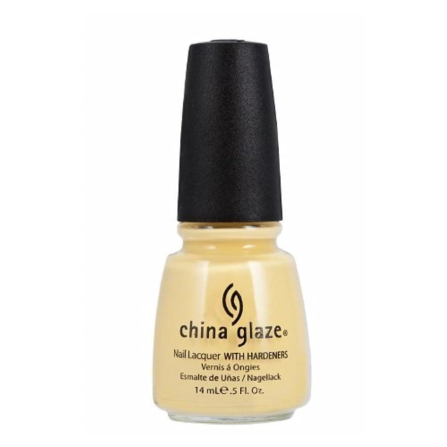 一時停止モンキー素人CHINA GLAZE Nail Lacquer with Nail Hardner 2 - Lemon Fizz (並行輸入品)