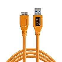 【国内正規品】TetherTools テザーツールズ テザープロ USB3.0 マイクロB ケーブル 4.6m オレンジ CU5454