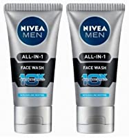 Nivea Men All In 1 Face Wash 50 gm - 2 pk (Ship from India)