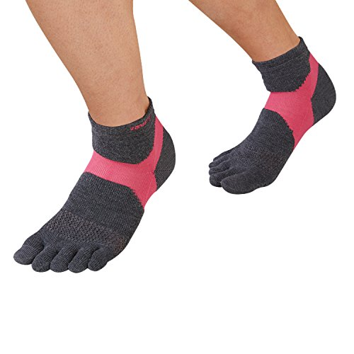 [해외]자무 (ZAMST) 아치 지원 양말 AS-1 (5 손가락) 달리기 육상 M 사이즈 다리들이 그레이 × 핑크 376352/Zamst (ZAMST) Arch Support Socks AS-1 (5 fingers) Running Land M size Sleeved Gray × Pink 376352