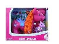 Kid Connection Horse Family Set 10 Pcs Pink