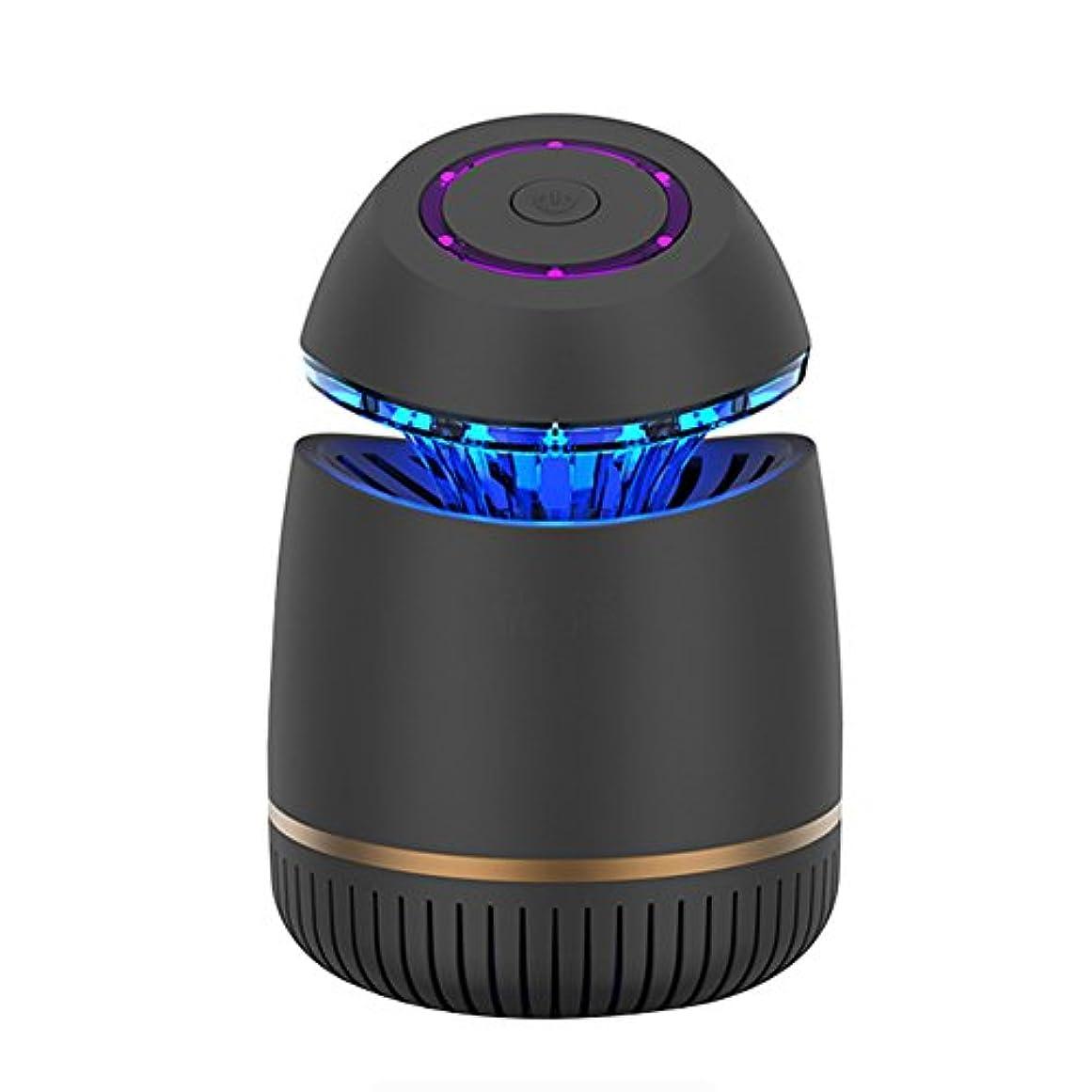 レーニン主義強度機会LIXIONG 蚊ランプ UVA紫色光 無放射線 ミュート 屋内 自動 USBプラグ充電、 2色展開 (色 : 黒)