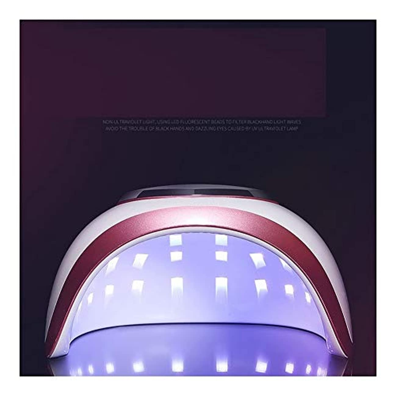 マーチャンダイジングコンピューターリングレットLittleCat 釘LEDランプライト療法機ドライヤーネイルグルーヒートランプ72W速乾性モードインテリジェントセンサー無痛 (色 : 72W red edge European regulations)