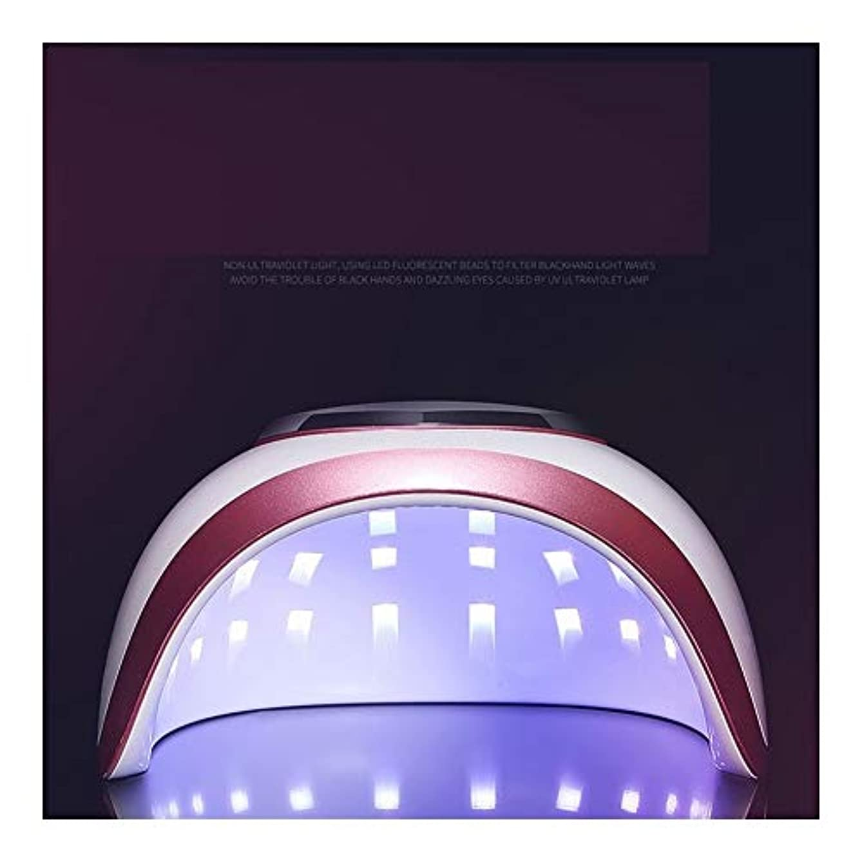 くまラジウム国LittleCat 釘LEDランプライト療法機ドライヤーネイルグルーヒートランプ72W速乾性モードインテリジェントセンサー無痛 (色 : 72W red edge European regulations)