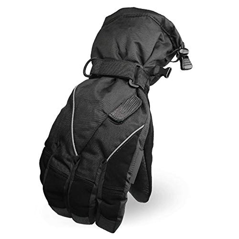 どちらか観光に行くコンパス冬の男性のオートバイアウトドアサイクリング防水と防風の大きなサイズの厚い暖かい綿の乗馬用手袋