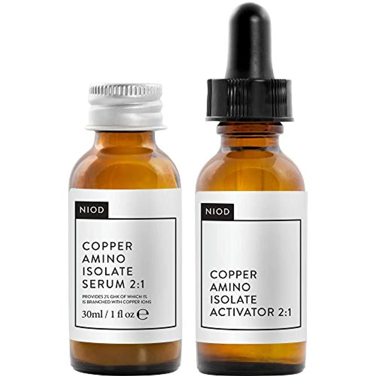 行くブースビル[NIOD] Niod銅アミノ分離株の血清2:1 30ミリリットル - NIOD Copper Amino Isolate Serum 2:1 30ml [並行輸入品]