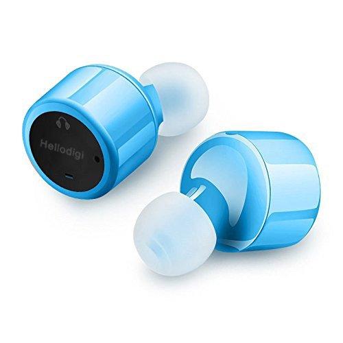Hellodigi HD10 bluetooth イヤホン ワイヤレス イヤホン ブルートゥース イヤホン 「6ヶ月保証付」 Bluetooth 4.2 イヤホン スポーツ ステレオスヘッドホン 両耳 (ブルー)