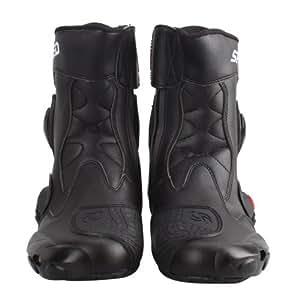 NEW!強化防衛性PRO★スポーツバイク用レーシングブーツ/オートバイ靴 ブラック★42(約26-26.5CM) 並行輸入品