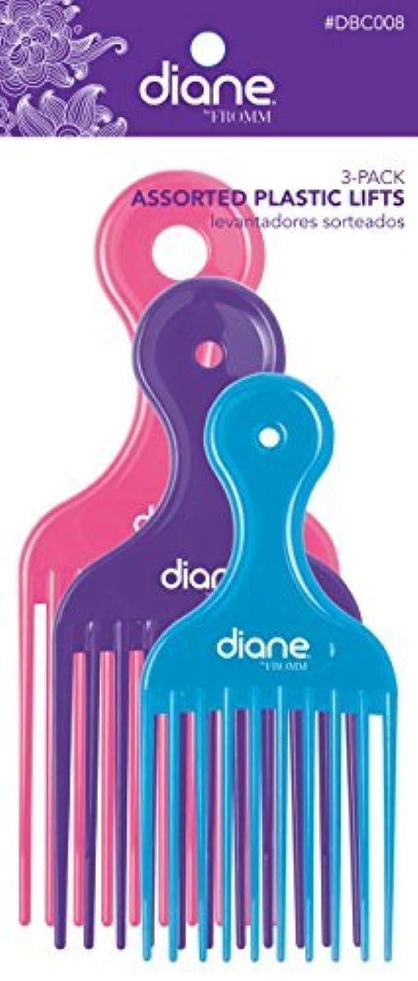 結び目かなり曇ったDiane Fromm Assorted Plastic Lifts 3 Pack [並行輸入品]