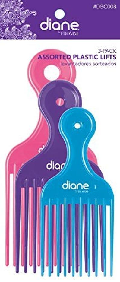 同種の形状国旗Diane Fromm Assorted Plastic Lifts 3 Pack [並行輸入品]