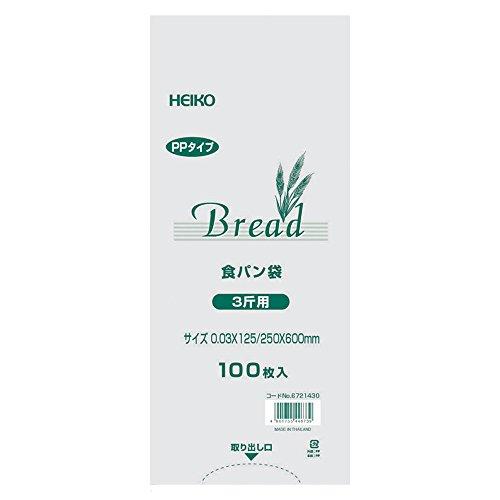 ヘイコー PP食パン袋 3斤用 100枚入り 006721430