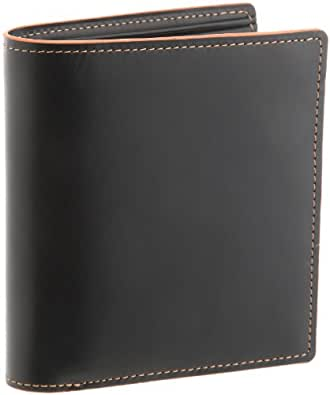 [バルア] Barua カラーステッチ ボックス型小銭入れ二つ折り財布 メンズ 150-991 OR (オレンジ)