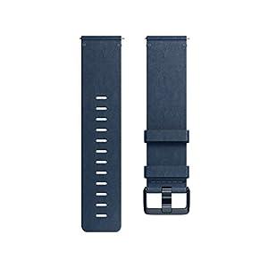 Fitbit フィットビット Versa 専用 純正 交換用 レザー リストバンド Midnight Blue ミッドナイトブルー Sサイズ【日本正規品】 FB166LBNVS