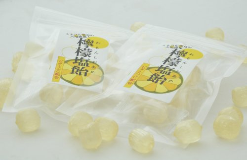 業務用 レモン塩飴(レモン塩あめ)食べきりサイズ 便利なチャック付 50袋