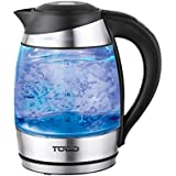 TODO Automatic Keep Warm 1.8L Glass Cordless Kettle with Temperature Control (Black)