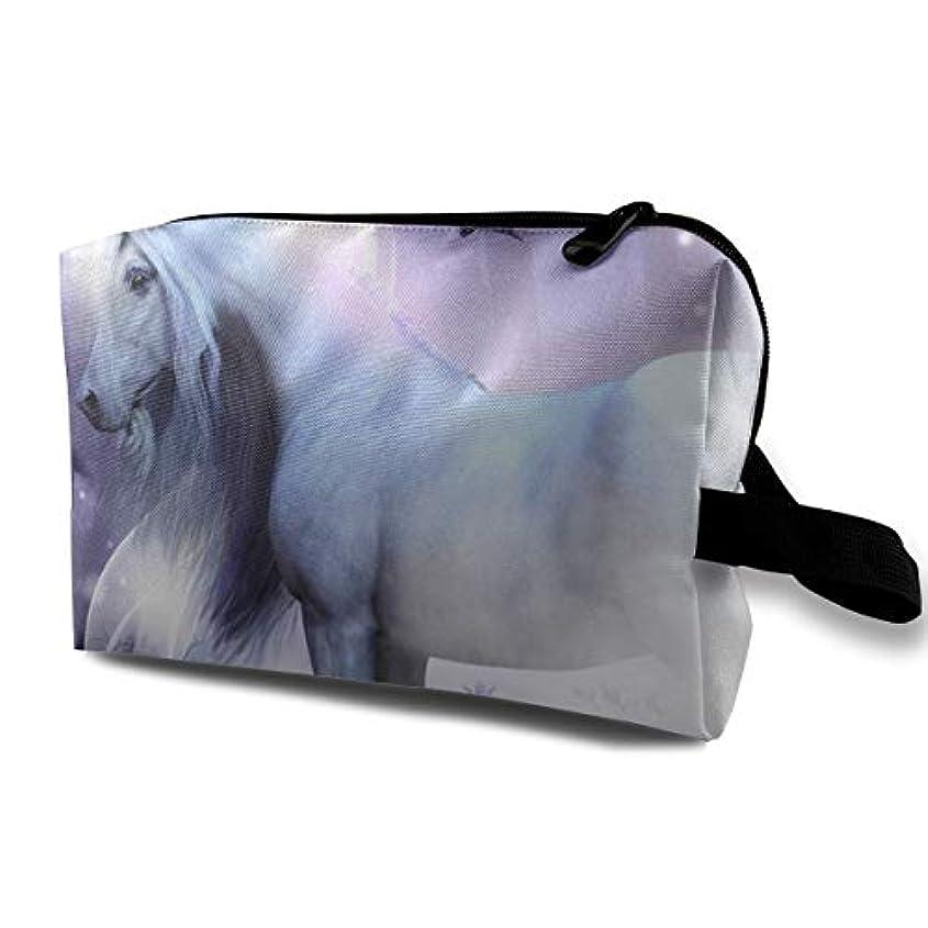 前兆前兆スクラップFantasy Unicorn Faries 収納ポーチ 化粧ポーチ 大容量 軽量 耐久性 ハンドル付持ち運び便利。入れ 自宅?出張?旅行?アウトドア撮影などに対応。メンズ レディース トラベルグッズ