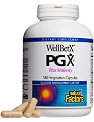 海外直送品 Natural Factors WellBetX PGX with Mulberry, Mulberry 180 Caps