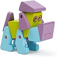 柔軟な木製玩具子犬Acrobatパープル – Colored and Safe Kids Toy – 1 / 2 / 3 / 4 year old boy toy and Girl Toys
