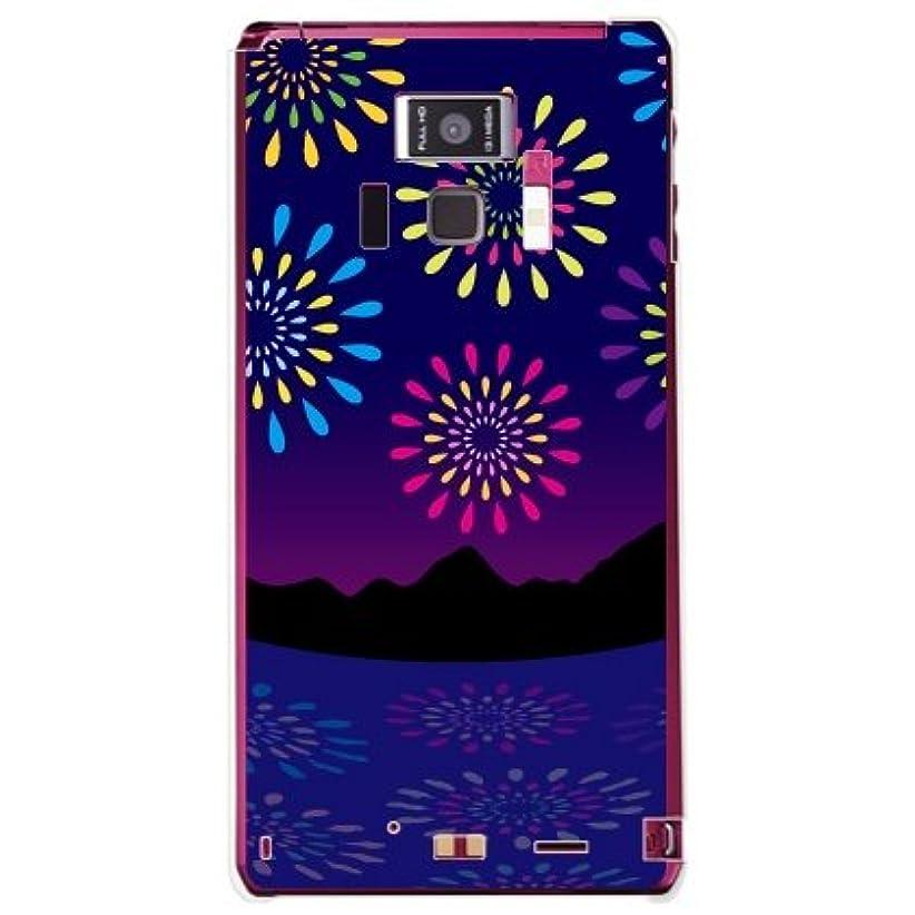 無補う貞YESNO 花火 (クリア) / for REGZA Phone T-01D/docomo DTSR1D-PCCL-201-N061