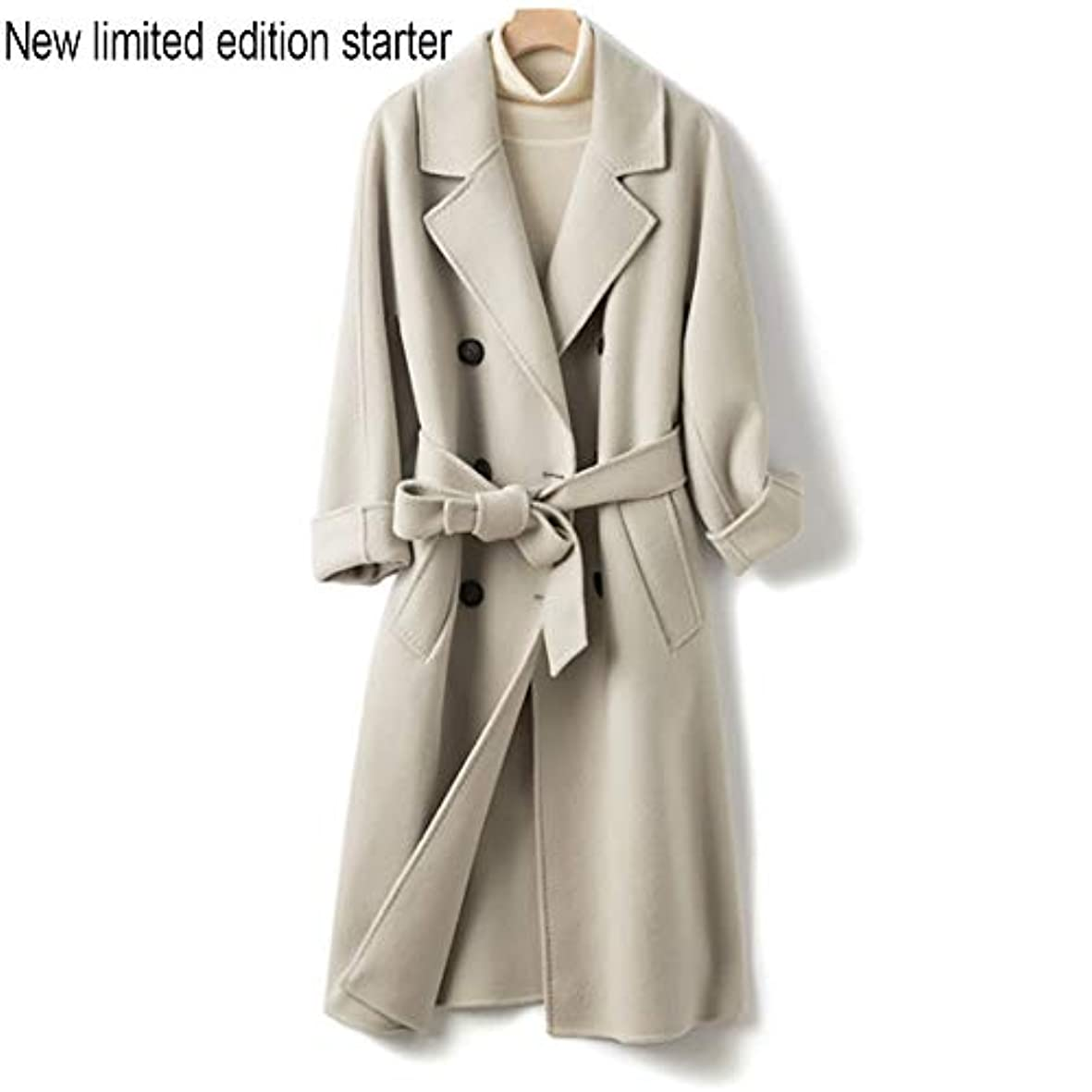 アッティカスすすり泣き競争ウールコート、両面コート、ロングウールコート、秋と冬新しい婦人服女性のうれしそうな冬のジャケットコート