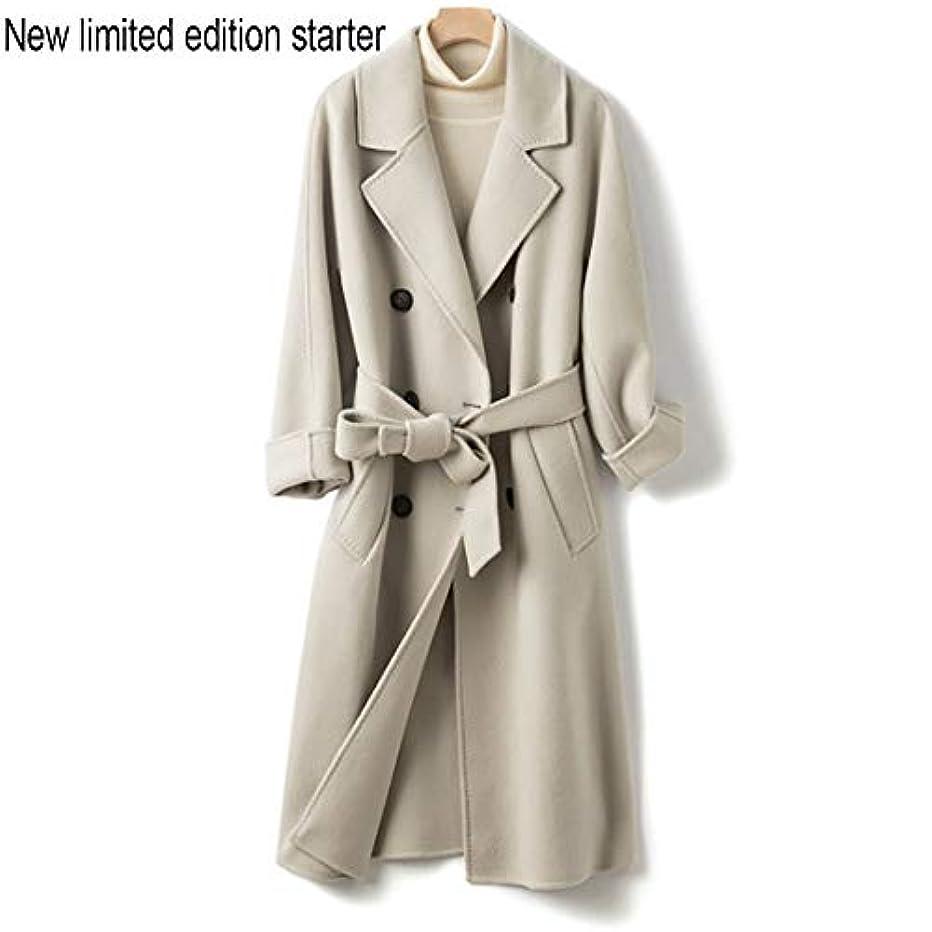 車両妖精戸口ウールコート、両面コート、ロングウールコート、秋と冬新しい婦人服女性のうれしそうな冬のジャケットコート