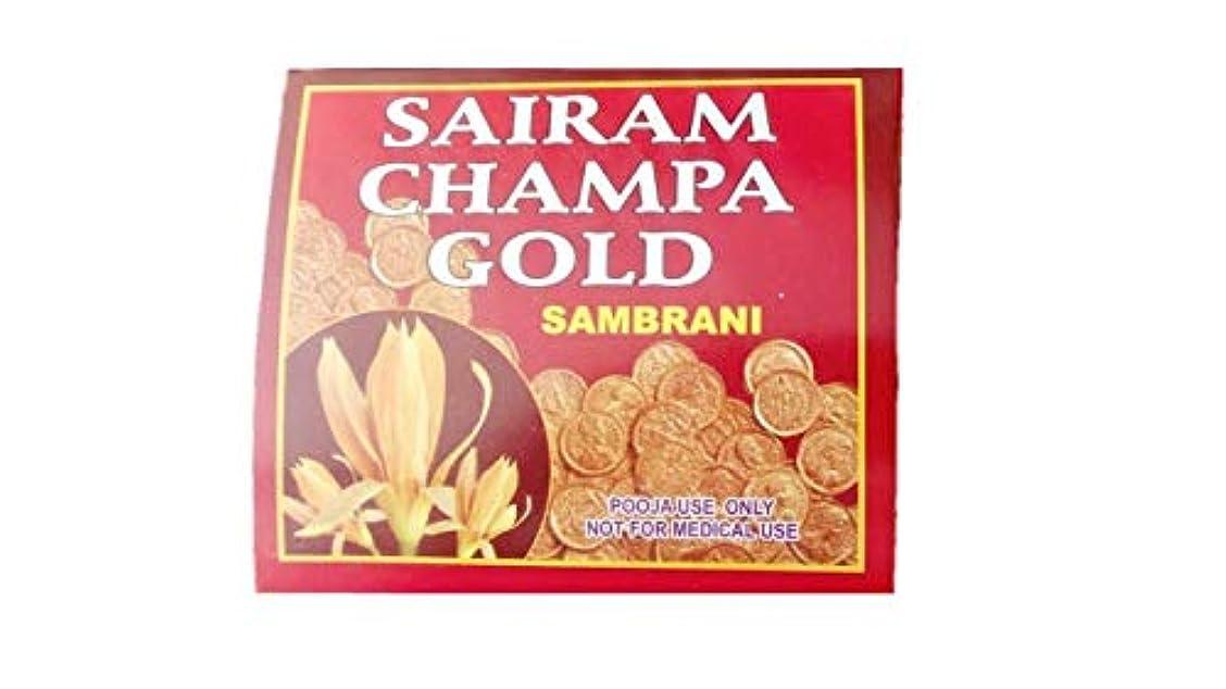 計器薬持続するRadha Krishna Benzoin Sairam Champa Gold Dhoop(500 Grams)