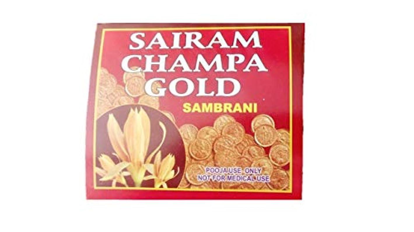熟考する保証するささやきRadha Krishna Benzoin Sairam Champa Gold Dhoop(500 Grams)