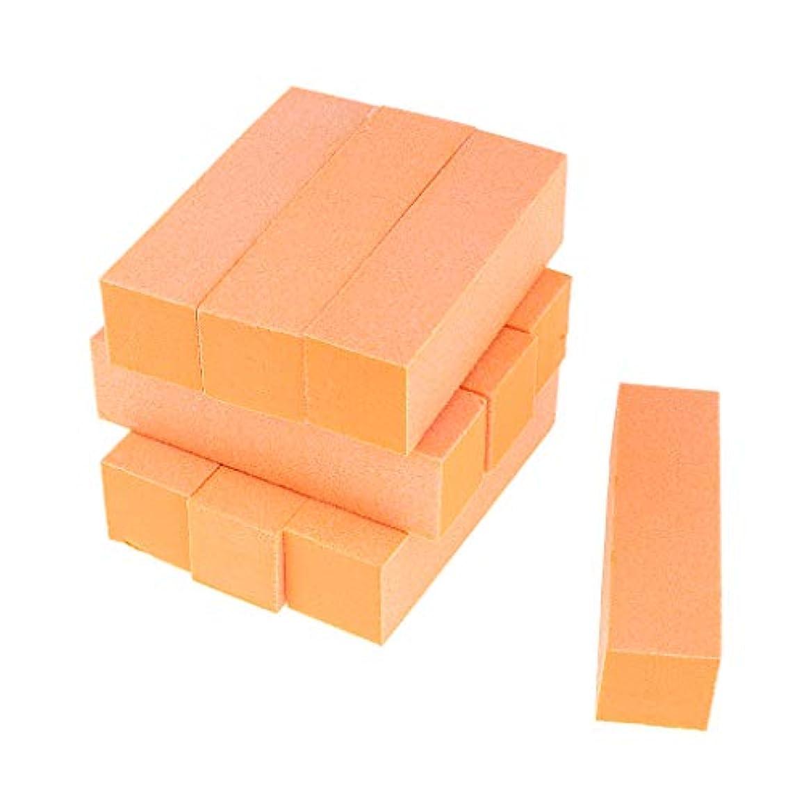 の頭の上汚す挽くToygogo 両面ネイルバッファーネイルシャイナースポンジネイルファイルサンディングブロック-ソフト&シルキー、10個-作成された滑らかで美しいネイル - オレンジ