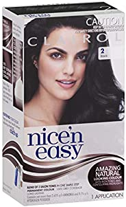 Clairol Nice'n Easy Permanant Hair Colour, 2 Black, 1 c