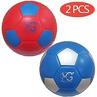マクロGiant 7.5インチ(直径) Soft Foam Soccer Ball, Set of 2レッド&ブルー、トレーニング、練習、初心者、Kickball