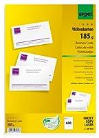 Sigel dp930ビジネスカード、MP、125.0ポンド、明るいホワイト、600pcs。
