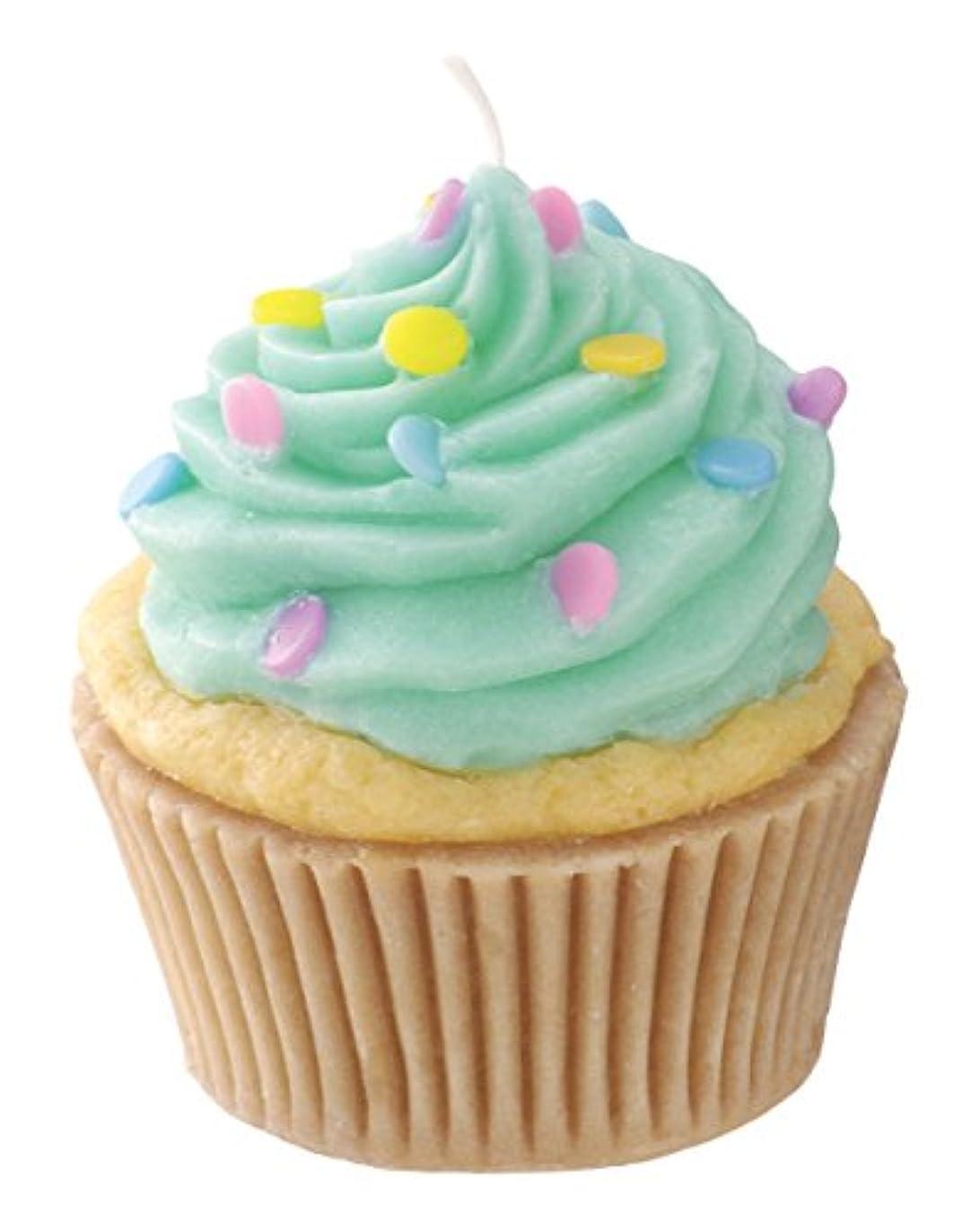 特異などっち長さカメヤマキャンドルハウス 本物そっくり! アメリカンカップケーキキャンドル ミントクリーム バニラの香り