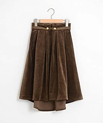 (マジェスティックレゴン) MAJESTIC LEGON ベロア膝丈スカート S ブラウン