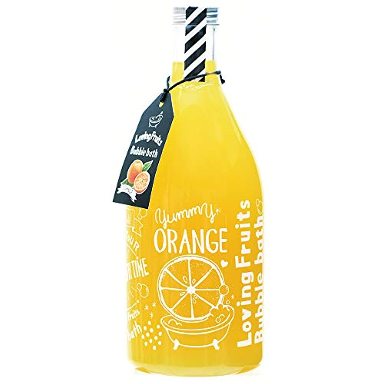 モバイル葉明るいノルコーポレーション バスジェル ラビングフルーツバブルバス OB-LFS-1-2 入浴剤 オレンジの香り 750ml
