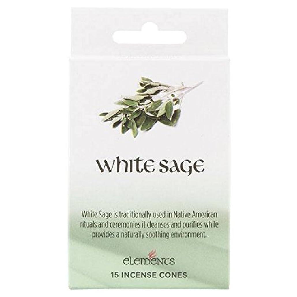 助手ラックデンマーク12 Packs Of Elements White Sage Incense Cones