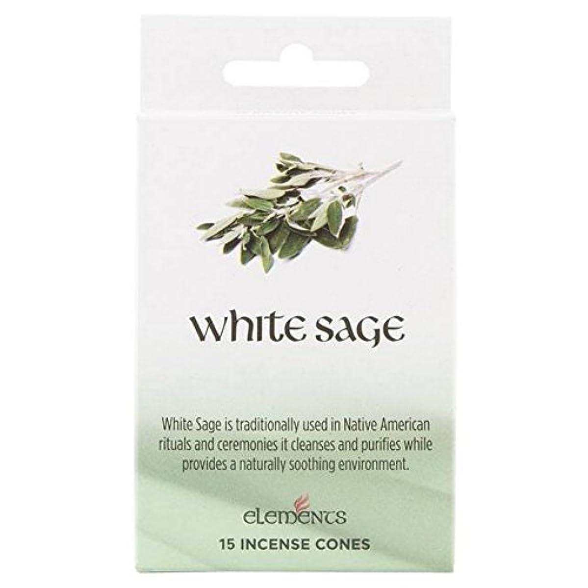 ドラッグ聡明手12 Packs Of Elements White Sage Incense Cones
