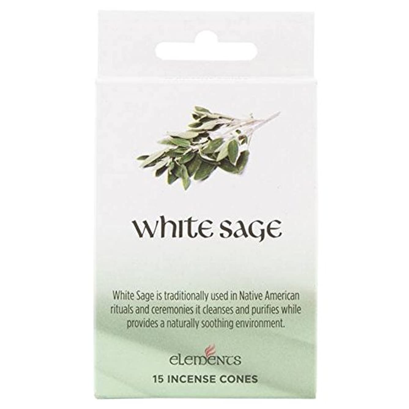 晩餐集団的陸軍12 Packs Of Elements White Sage Incense Cones