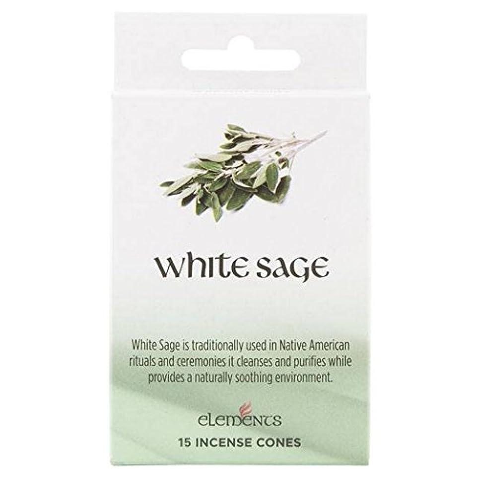 雷雨トラブル廊下12 Packs Of Elements White Sage Incense Cones