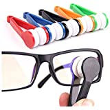 Onwon 5 Pcs Mini Sun Glasses Eyeglass Microfiber Spectacles Cleaner Soft Brush Cleaning Tool.