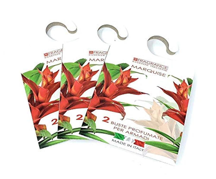 事故背骨入口MERCURY ITALY 吊り下げるサシェ(香り袋) FIOREALE イタリア製 マルキーズの香り/MARQUISE 2枚入り×3パック [並行輸入品]